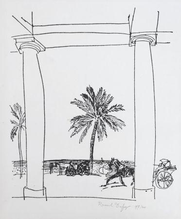 リトグラフ Dufy - La Palais de la Méditerranée