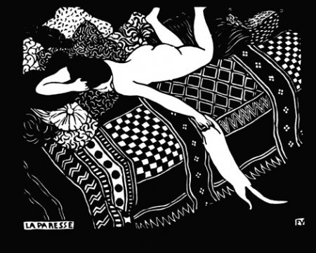 木版 Vallotton - La paresse