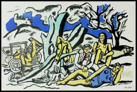 リトグラフ Léger (After) - LA PARTIE DE CAMPAGNE