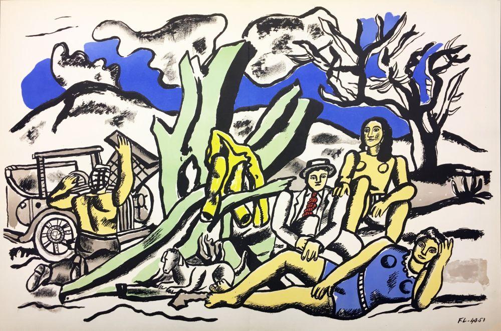 リトグラフ Leger - LA PARTIE DE CAMPAGNE (1951-1953)