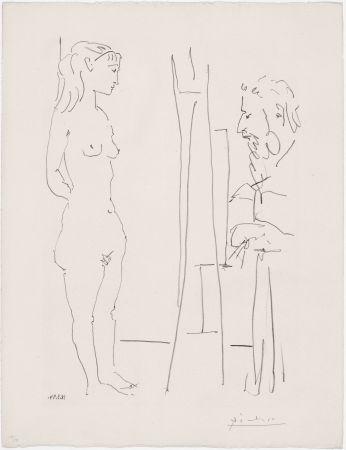 リトグラフ Picasso - La Pose Nue