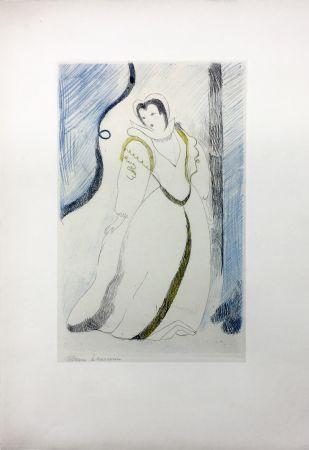 エッチング Laurencin - LA PRINCESSE DE CLÈVES (Pl. III signée au crayon). 1947