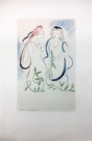エッチング Laurencin - LA PRINCESSE DE CLÈVES (Pl. VI signée au crayon). 1947