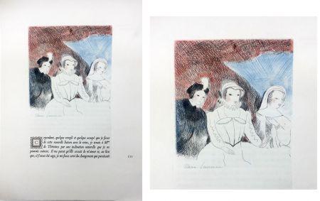 エッチング Laurencin - LA PRINCESSE DE CLÈVES (Pl. VII signée au crayon). 1947