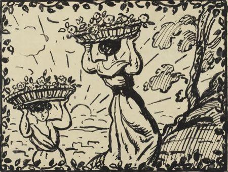 技術的なありません Espagnat (D') - La récolte des roses circa 1906