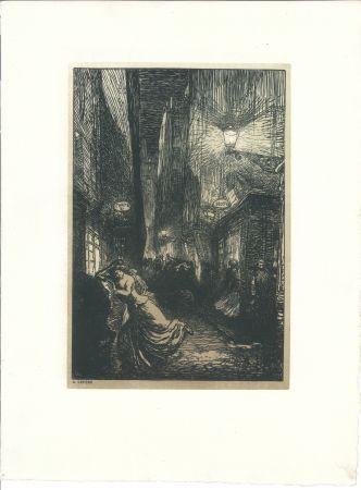 木版 Lepere - La rafle (The Raid)