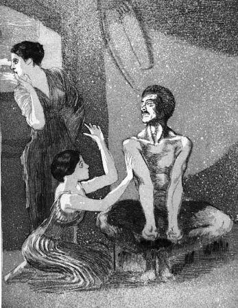 エッチングと アクチアント Klinger - La ragazza e il tiratore