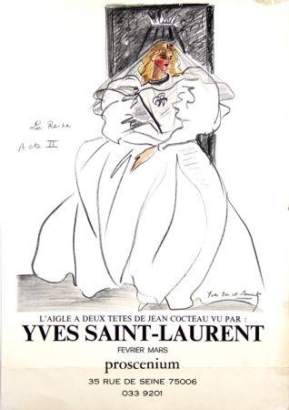 オフセット Saint Laurent - La Reine L'aigle à deux Têtes de Jean Cocteau