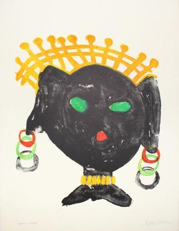 リトグラフ Ionesco - La reine noire