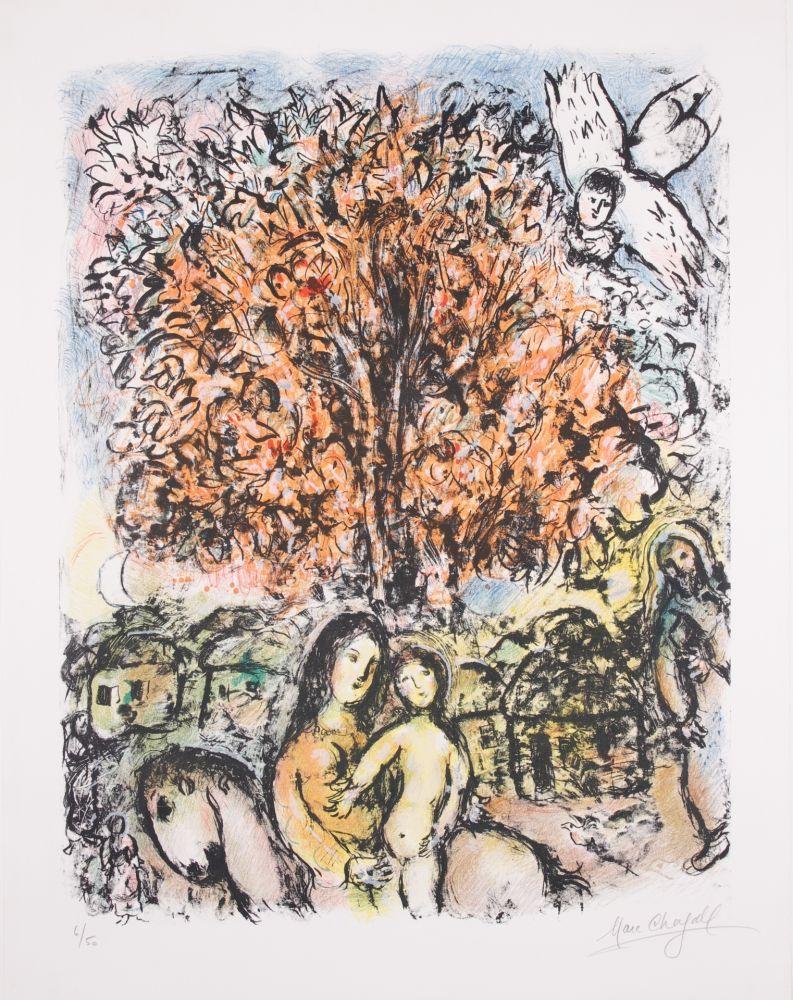 リトグラフ Chagall - La Sainte Famille
