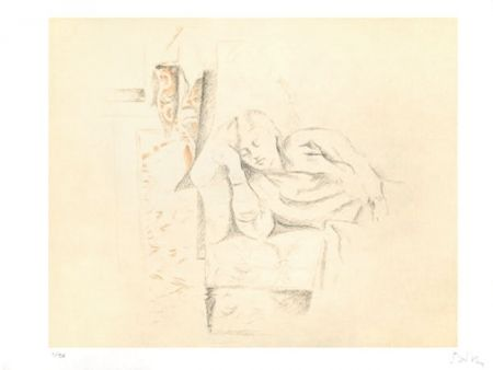 リトグラフ Balthus - LA SIESTE
