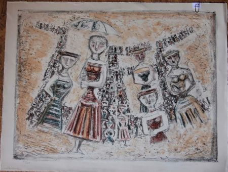 リトグラフ Campigli - La strada