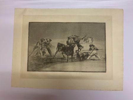 エッチングと アクチアント Goya - La Tauromaquia