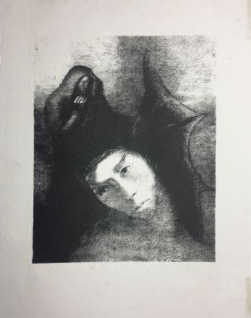 リトグラフ Redon - LA TENTATION DE SAINT-ANTOINE (Planche XVIII, 3ème série) 1896