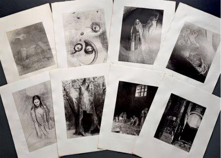 リトグラフ Redon - LA TENTATION DE SAINT ANTOINE. Lithographies originales d'Odilon Redon.