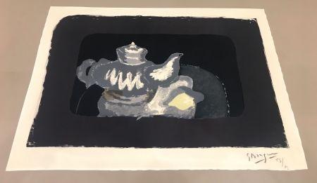 リトグラフ Braque - La Théière Grise