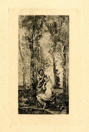 彫版 Corot - La toilette