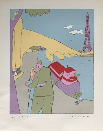 シルクスクリーン Kœchlin - La Tour-Eiffel