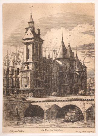 彫版 Meryon - La tour de l'horloge / The Clock Tower