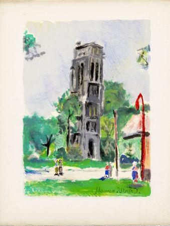 リトグラフ Utrillo - LA TOUR SAINT-JACQUES. Épreuve pour Maurice Utrillo (Paris, 1955)