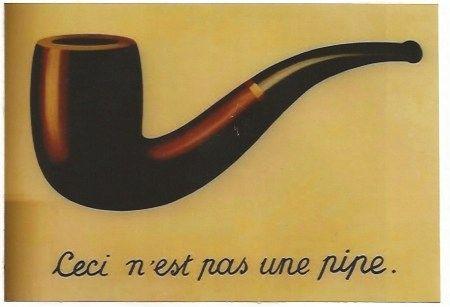 リトグラフ Magritte - La trahison des images (Ceci n'est pas une pipe)