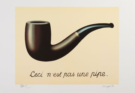 リトグラフ Magritte - La Trahison Des Images (The Treachery Of Images)