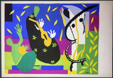 リトグラフ Matisse - LA TRISTESSE DU ROI. Lithographie sur Arches 1952 (tirage original)