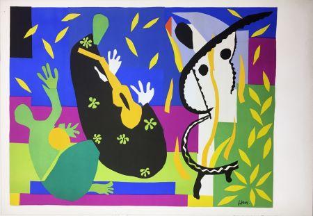 リトグラフ Matisse - LA TRISTESSE DU ROI. Lithographie sur Arches 1952 (tirage original édité par Tériade)