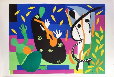 リトグラフ Matisse - LA TRISTESSE DU ROI. Lithographie sur Arches 1958 (tirage original. Tériade éditeur)