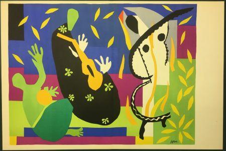 リトグラフ Matisse - LA TRISTESSE DU ROI. Lithographie sur vélin 1952 (tirage original)