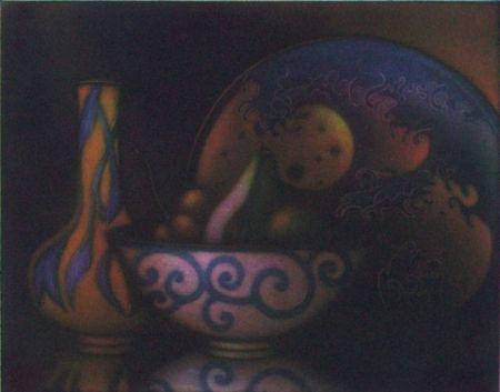 メゾチント彫法 Schkolnyk - La vague