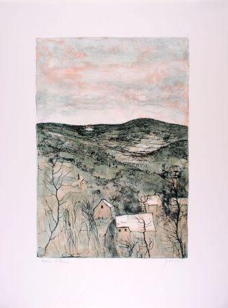 リトグラフ Gantner - La Vallée - The Valley