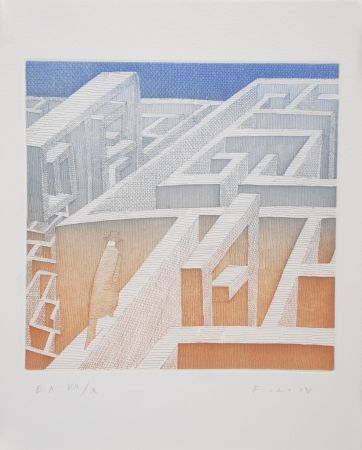 エッチングと アクチアント Folon - Labyrinthe
