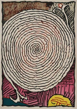 リトグラフ Alechinsky - Labyrinthe d'apparat IV