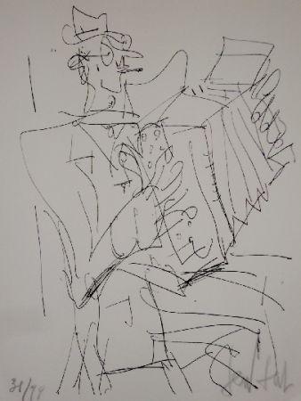 リトグラフ Paul  - L'accordéoniste