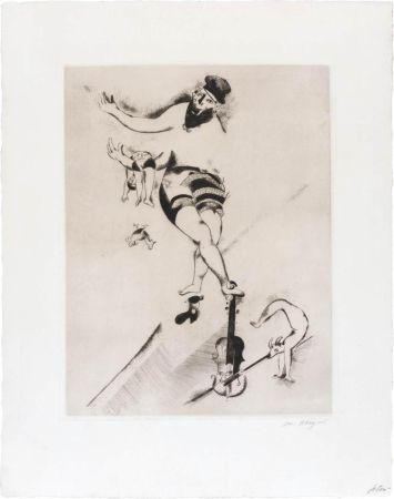 エッチング Chagall - L'acrobate au violon