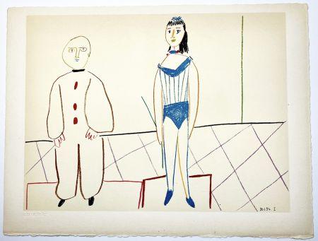 リトグラフ Picasso - L'Acrobate et le Clown (de La Comédie Humaine - Verve 29-30. 1954).