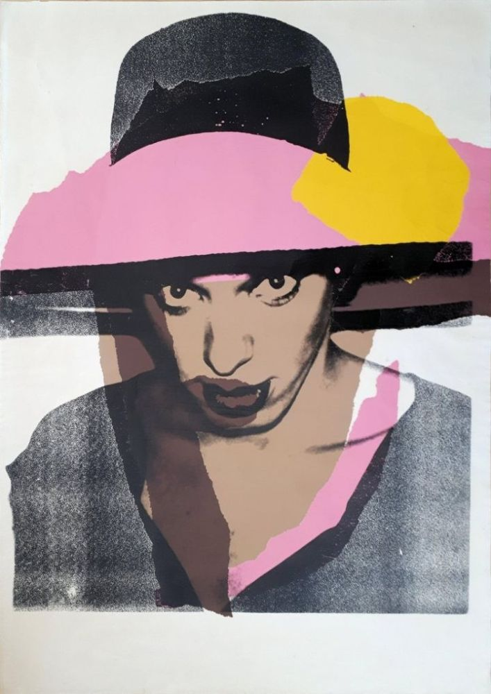 シルクスクリーン Warhol - Ladies & Gentlemen : The pink hat