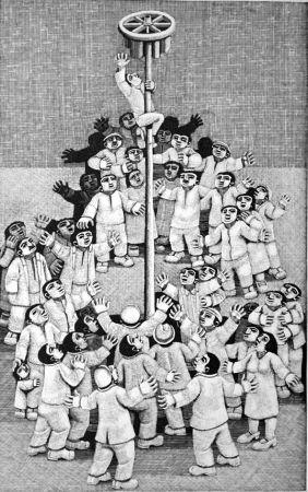 木版 Morena - L'albero della cuccagna