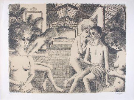 リトグラフ Delvaux - L'Amoureux