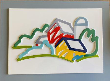 セラミック Wesselmann - Landscape II- 3D Objekt
