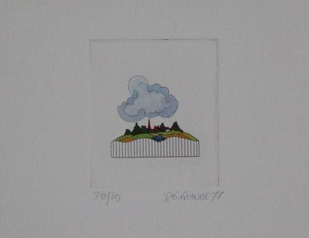 エッチングと アクチアント Franke - Landschaft / Landscape