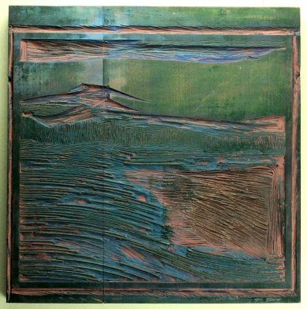 木版 Blauensteiner - Landschaft (Landscape)