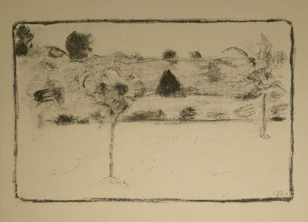 リトグラフ Amiet - (Landschaft mit Bäumen)