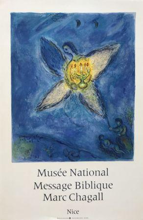 リトグラフ Chagall - '' L'Ange au Chandelier ''
