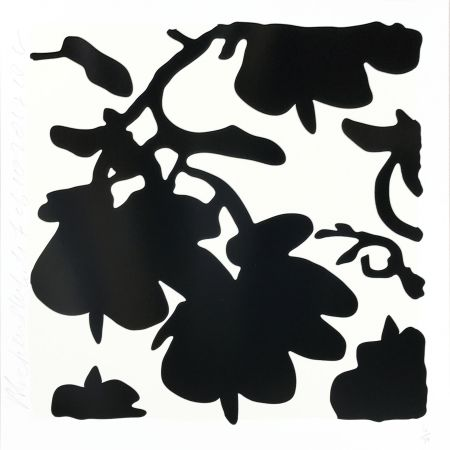 シルクスクリーン Sultan - Lantern Flowers (Black /white)