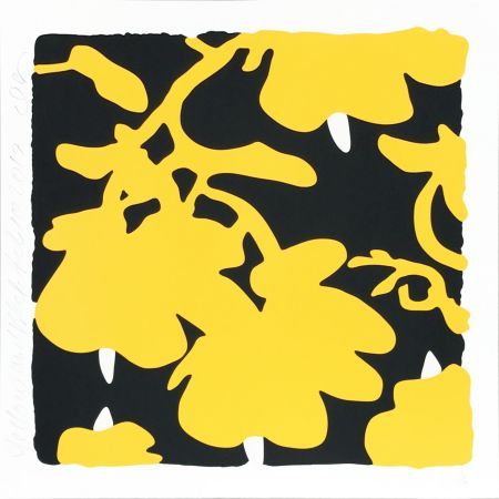 シルクスクリーン Sultan - Lantern Flowers (Yellow/black)