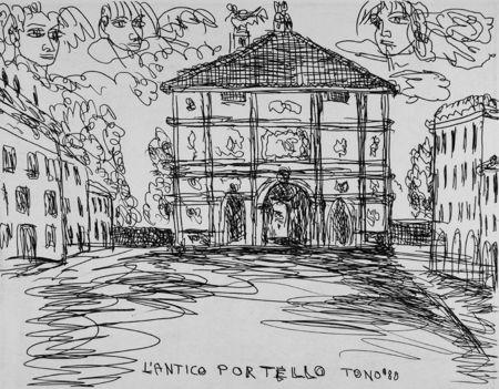 エッチング Zancanaro - L'antico Portello
