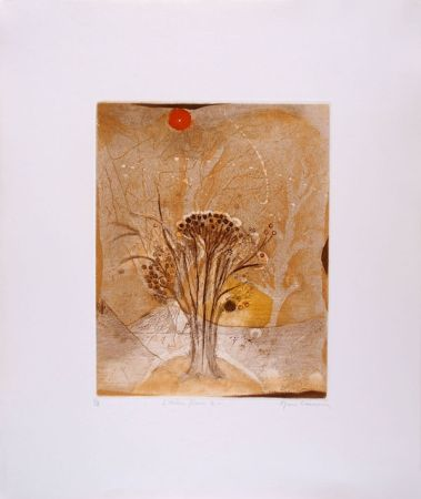 エッチングと アクチアント Carcan - L'arbre fleur 2 (Receuil : Les arbres en vacances)