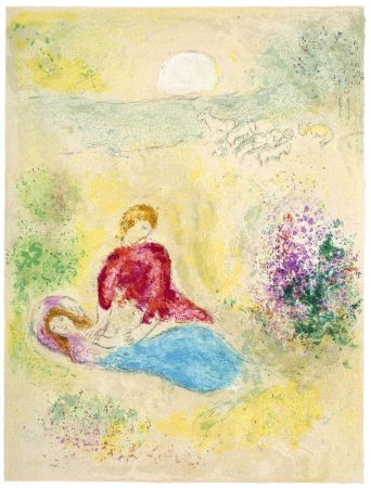 リトグラフ Chagall - L'Arondelle (The Little Swallow from Daphnis & Chloé - 1961)